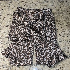 Victoria's Secret Satin Cheetah Print Pajama Set